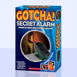 Gotcha! Secret Alarm Package and Book Design